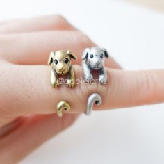 Hey, I found this really awesome Etsy listing at https://www.etsy.com/listing/161931184/dog-ring-puppy-ring-size-5-9-us