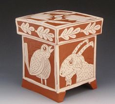 North Carolina Potter, Ron Philbeck,  2012 Covered Box, read about his work on the Studio Potter Archive Blog