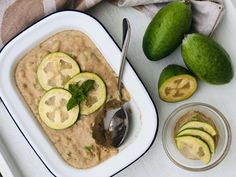 Feijoa Ice cream Nice Cream, Creative People, Smoothie Recipes, A Food, Zucchini, Food Processor Recipes, Peanut Butter, Frozen, Meals