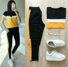 Sporty Outfits, Cute Casual Outfits, Stylish Outfits, Fall Outfits, Teenage Girl Outfits, Girls Fashion Clothes, Teen Fashion Outfits, Fashion Fashion, Mode Adidas