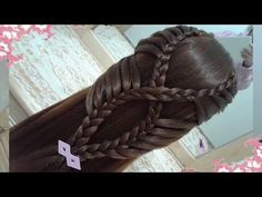 Stacked Fishtail Braid - All About Hairstyles Braided Hairstyles For School, Girly Hairstyles, Fishtail Braid Hairstyles, Little Girl Hairstyles, Easy Hairstyles, Girl Haircuts, Wedding Hairstyles, Braids For Kids, Twist Braids