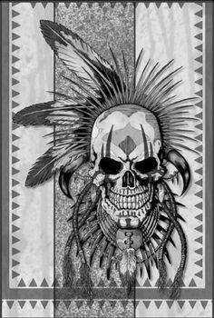 Apache skull