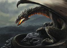 """""""Dragon"""" by Thomas Wievegg (thomaswievegg)   #Fantasy #Dragons"""