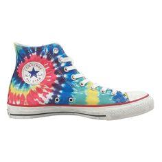 faec4b4c1f61 Tie-Dyed Chucks  converse  chucktaylor  hightops  hippie  tiedye