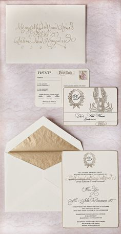 Classic, ornate invitations