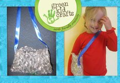 A testament to the fact that anything can be upcycled: Rowan's amazing bubble wrap purse!