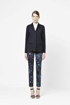 Slim printed trousers