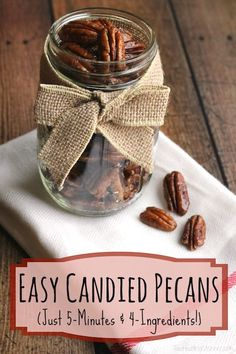 Deliciously easy candied pecans are so lightning-fast! You'll be making them all the time … for snacks, on salads … even as last-minute gifts!  |  www.TwoHealthyKitchens.com