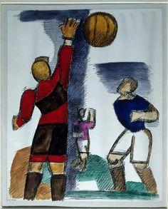 Marcel Gromaire, Football, 1930 - PEINTURE - Photo © RMN-Grand Palais / Agence Bulloz @grandpalaisrmn