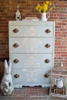 Postcards from the Ridge: Stencilled Old World Chest of Drawers