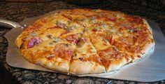 Sourdough Pizza Dough Recipe, Sourdough Starter Recipe, Whats Cooking America Sourdough Pizza Dough Recipe, Sourdough Recipes, Sourdough Bread, Sour Dough Pizza Crust, White Pizza Recipes, Perfect Pizza, Crust Recipe, The Best, Cooking Recipes