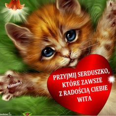 SERDUSZKO DLA CIEBIE Hug Quotes, Cat Drawing, Good Morning, Coloring Pages, Fantasy, Drawings, Kitty Kitty, Facebook, Beautiful