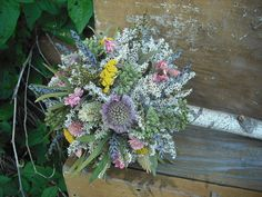 Dried flower and Herb Bride's maid  bouquet by NHWoodscreations, $49.00