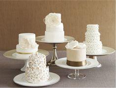 White Wedding Mini Cakes