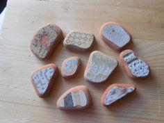 Terracotta Sea pottery , vintage 9 pezzi fantasy , materiali per creare, ( lotto 32)