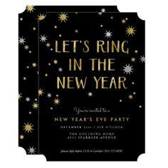 Silver n Gold Starburst New Year Party Invitation New Years Eve Invitations, Custom Party Invitations, Zazzle Invitations, Invites, Black Gold Silver Party, Nye Party, Youre Invited, New Years Eve Party, Sparklers