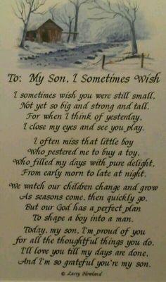"I love this poem, ""My Son""!"