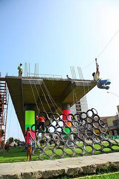playscapes: Ghost Train Park, Basurama, Lima Peru, 2010