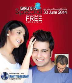 ILHT offers a very Special Discount Package with FREE extra grafts for the month of Ramadan  http://ilht-pakistan.blogspot.com/2014/06/ilht-offers-very-special-discount.html