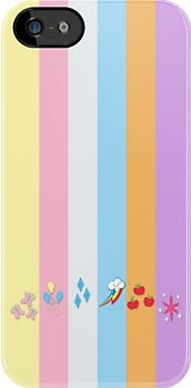 My Little Pony - Mane Six by carnivean also a reason I'd get an iPhone. Why can't they make these for HTC?!