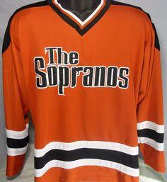 HBO Limited The Sopranos Authentic Hockey Jersey Mens Size XL Tony Soprano