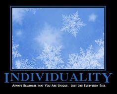 Individuality Demotivator