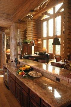 Log home decor on Pinterest | Log Homes, Log Home Interiors and Old