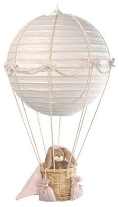 Nursery Air Balloon Made From Laterns