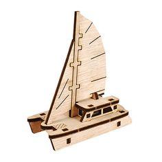Wooden Model Ship Kits Wood Series- Scale Models Running Catamaran Yacht