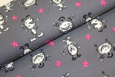 Stoff Sterne - Jersey mit süßen Monstern - ein Designerstück von Mein-Etagerenzauber bei DaWanda