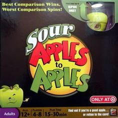4-8 Players / 30 min. –– Sour Apples to Apples on BoardGameGeek