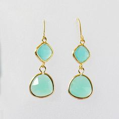 mint gold earrings mint gold earings dangle earring sea foam green mint jewlelry