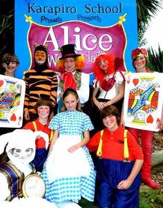 Alice in Wonderland costumes, I like the cards and the mad hatter is pretty cool
