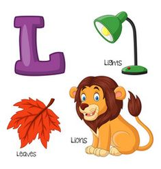 Illustration of l alphabet Premium Vecto. Alphabet Letters Images, Alphabet Words, Alphabet Phonics, Alphabet Pictures, Alphabet For Kids, Animal Alphabet, Alphabet Worksheets, Bubble Alphabet, Alphabet Crafts