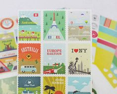 Sticker set - Travel type
