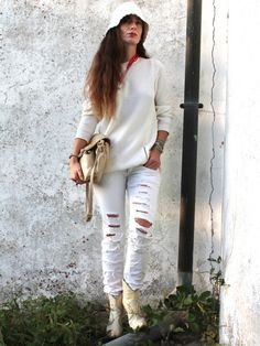 STYLIGHT: Acquista Moda e Abbigliamento online » #outfit #style #fashion #knitwear #jeans @stylight White Jeans, Hipster, Knitting, Outfit, Boards, Fashion, Outfits, Planks, Moda