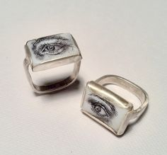 Scrimshaw Lover's eyes, silver, mother of pearl, ink. Georgina Taylor thats my eye! on pinterest!