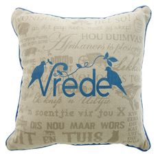 Vrede scatter cushion Scatter Cushions, Throw Pillows, Cushion Ideas, Afrikaans, Sofa Chair, Household Tips, Sofas, Projects To Try, Chairs