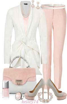 Charming Bracelets, Feminine pink, vintage, stud earrings, pump heels, Pearls necklace, vStyln Cute ladies fashion