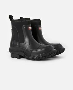 Women's Black Women's Stella x Hunter Boots   Stella McCartney Women Stella Mccartney, Short Rain Boots, Ethical Fashion Brands, Hunter Boots, Autumn Winter Fashion, Rubber Rain Boots, Unisex, Shoes, Black