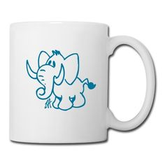 Elefant Tasse | #Spreadshirt | ID: 8853308 #Cardvibes #Tekenaartje