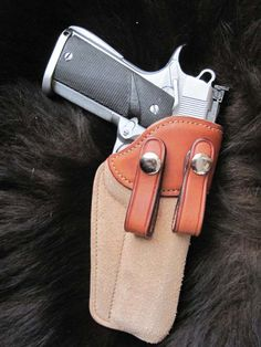 Purdy Gear 1911 Pistol, Colt 1911, Custom Holsters, Angel Artwork, Leather Holster, Leather Projects, Useful Life Hacks, Guns And Ammo, Custom Leather