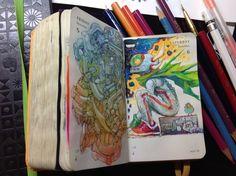 340 of Kenneth Rocafort's 365 sketch project Sketchbook Inspiration, Sketchbook Ideas, Moleskine Sketchbook, Notebook Art, Doodle Sketch, Marker Art, Comic Book Artists, Art Inspo, Art Sketches