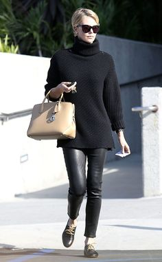 Charlize Theron looks winter chic in this Audrey Hepburn-inspired look! #style