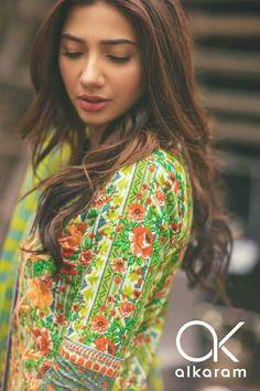 Beautiful Mahira Khan for #Alkaram #SpringCollectionVol2