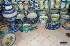 Vietri, Italy ~ Oh yes went to the factory ,they sold seconds and dust upon dust and plates all over. Places Ive Been, Places To Go, China Patterns, Italy, Spaces, Shop, Fun, Chinese Patterns, Italia