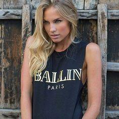 Fancy - Ballin in Paris Muscle Tee by Alex & Chloe