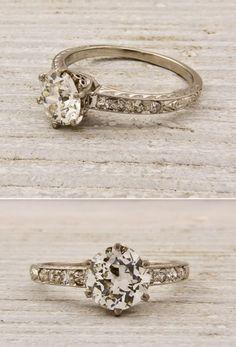 Vintage engagement rings from Erstwhile Jewelers http://media-cache2.pinterest.com/upload/151926187399095457_5ZfBPkL9_f.jpg hwetzel party wedding inspiration