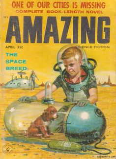 Amazing Science Fiction  April 1958  Vol 32, No. 4  Cover: Edward Valigursky