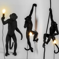 Debout Singe Lampe Lustre en R/ésine Blanche Maison Applique Prise /Éclairages Suspension